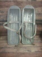 Vintage Aluminum Snow Skis / Shoes