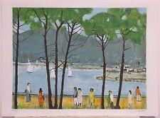 """Nathalie Chabrier, """"La Croisette a Cannes,"""" 1983, Beautiful Lithograph"""