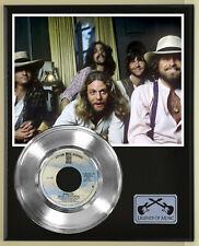 "Eagles ""Hotel California"" Silver Record Display Wood Plaque"