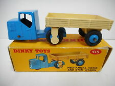 DINKY MECHANICAL HORSE AND OPEN WAGON BOXED  .. # 415