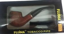 "FUJIMA [NEW] Bent Stem Tobacco Smoking Pipe 6"" w/ Pouch FREE SHIPPING FP109"
