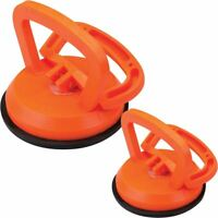 "2 X DENT PULLERS  SUCTION CUPS  CAR PANEL REPAIR 115MM 4 1/2"" AND 64MM 2-1/2"""