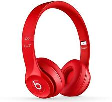 Beats Solo2 Gloss Red Headphones - Genuine Beats By Dre Wired Headphones Retail
