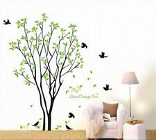 Large Tree Flying Black Birds with Quote Wall Sticker Decal for Kids Room AM0084
