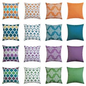 "16"" 18"" 20"" 24"" Waterproof Cushion Cover Pillow Case Sofa Home Outdoor Decor"