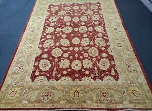 "5'6""x8'1"" Pakistani Peshawar Chobi Rug carpet,Handmade,Veg Dye,100% Wool 5.5x8"