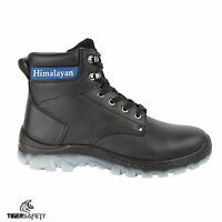 Himalayan 2600 S1P SRC Black Leather Steel Toe Cap Safety Boots Work Boot PPE