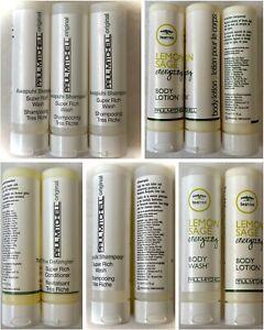 Paul Mitchell Lemon Sage Awapuhi Tea Tree Shampoo Conditioner Lotion Travel Size