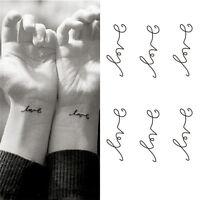 Love Temporary Tattoos Stickers Love Letters Patterns Waterproof Tattoo Bod LU