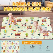 180x100cm Double-sided Folding Cartoon Baby Child Play Mat Crawling
