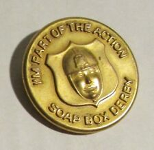 "1950's SOAP BOX DERBY I'm a Part of the Action 1-1/8"" Pin Pinback FN+ 6.5"