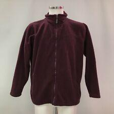 JAMES PRINGLE Purple Zip Up Fleece Jacket Menswear Casual Size UK M 462728