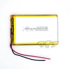5PCS Polymer Li rechargeable Battery 3.7V 4000 mAh Li-Ion 606090 For Tablet PC
