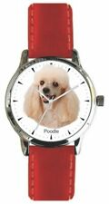 Poodle Is The Image On The Dog Watch With Leather Strap & Donation to Aspca