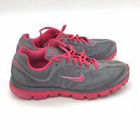 Women's Nike Inspire Dual Fusion Running Shoes Gray Pink Sz 9.5 429436-069