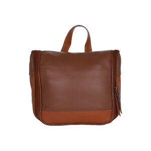 NORDBURY Leather Hanging Toiletry Bag, Shaving Kit, Cosmetics Bag, Travel Case