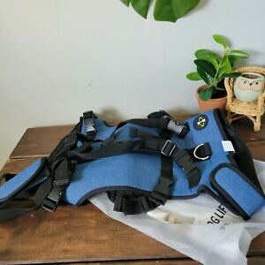COODEO Dog Lift Vest Harness, Full Body Support & Recovery Sling Blue Sz Large