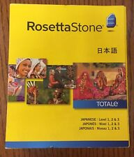 Rosetta Stone LEARN JAPANESE Levels 1 2 & 3 V4  SOFTWARE - MSRP 249.00US