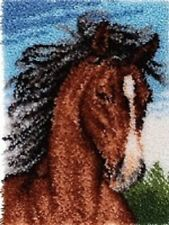 Wild Stallion Horse Latch Hook Kit WonderArt 426212