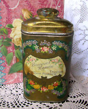 Harmony of Boston Bouquet Ramee Talcum Powder Tin,  Antique Circa 1915 Rare