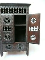Vintage Handmade Artisan Miniature Cabinet Sideboard Far East or North Africa