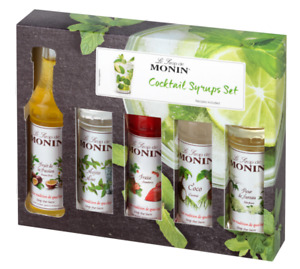 Monin Syrup Gift Set Bottle 5 x 5cl Syrups Coffee / Cocktail Gift Set