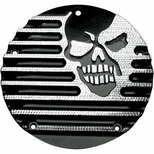 Covingtons Black Diamond Machine Head Derby Cover for 1999-2017 Harley Big Twin