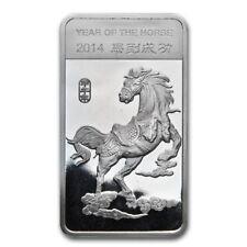 Lingot Cheval 1/2 Once argent pur 999 / 1/2 Oz Lunar HORSE 2014 Fine Silver Bar