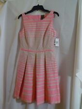 Taylor Pink/Cirton Striped 100% Cotton Sun Dress Size 4 NWT MSRP $138.00