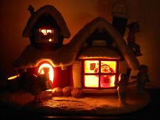 Vintage 1980 Hershey Mold Ceramic Santa's Elves Toy Shop Light Up VERY RARE!MINT