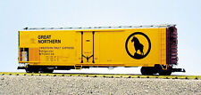 Usa Trains G Scale 50' Mechnical Reefer R16707 Great Northern - Yellow/Brown/Sil