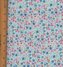 Floral Reproduction on pale green fabric 2 yard