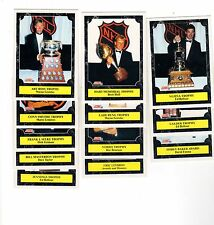 1X TROPHY AWARD WINNERS SET 1991-92 Score Bulk Lot Availabl Gretzky Hull Lindros