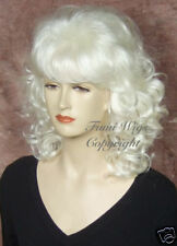 Classical Style Wig in Silver White / 100% Japanese Fibre Brilliant Quality