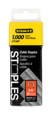 Stanley  Round  Cable Staples  Gray  3/8 in. L