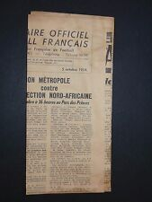 FRANCE FOOTBALL OFFICIEL HEBDOMADAIRE FFF N°446 05/10 1954