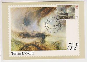 GB POSTCARD PHQ CARD USED FRONT FDI HANDSTAMP NO. 9 1975 J.M.W. TURNER UNADDRESS