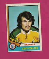 1974-75 OPC # 17 SCOUTS GARY COALTER  ROOKIE NRMT-MT CARD (INV# 9687)