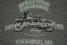 EUC Rayon Tri Blend Harley Davidson Hollywood California Super Soft t shirt XL
