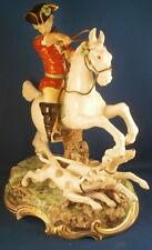 Large Nymphenburg Porcelain Hunter & Dogs Figurine Figure Porzellan Jaeger Figur
