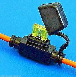 Mini - Sicherungshalter mit Kabel und Kappe, Universell einsetzbar