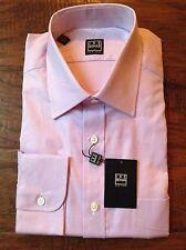 NWT Ike Behar Button Down Shirt 15 1/2 34-35 Purple Check $135