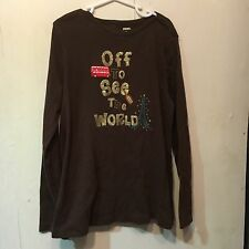 Gymboree Ready Set Go Brown Long Sleeved Tee Size 12
