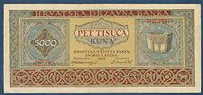 CROATIE - 5000 KUNA Pick n° 13. du 1-9-1943. en SUP   N0328017