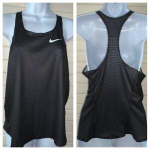 NWT Nike MEDIUM Digital Race Day Elite Running Singlet Tank Track Black 835974