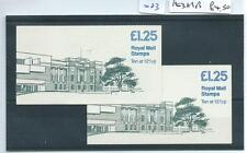 wbc. - GB - STAMP BOOKLETS - 083 - £1.25 - FK3a/3b - ULSTER MUSEUM, BELFAST x 2