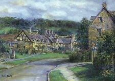 Broadway Village in Worcestershire Cotswolds England United Kingdom Art Postcard