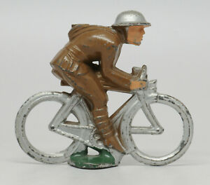 Vintage Manoil Barclay Soldier on Bicycle - Nice Example