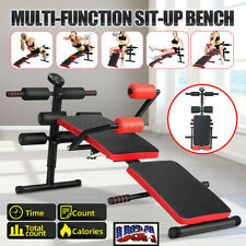 US Indoor Sit Up Bench Decline Abdominal Fitness Gym Workout  Exercise Equipment
