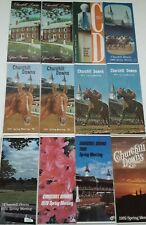 Various Churchill Downs Spring Racing Programs from 1960's, 70's, and 80's